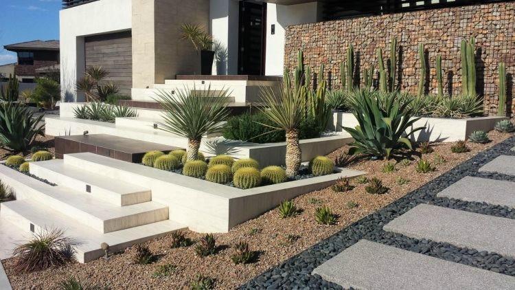 C mo decorar tu jard n con piedras teseris - Jardines con cactus y piedras ...