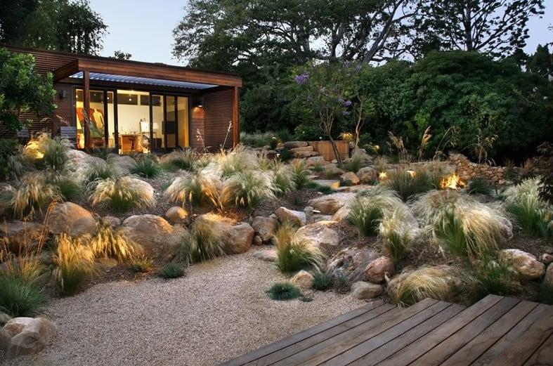 jardin secano, xeroscape, jardin mediterraneo