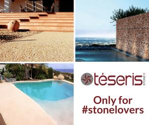 piedra, gavion, piscina de arena, pavimento drenante