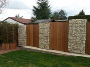 valla, gavion, gabion fence, valla de gaviones, gavion wall