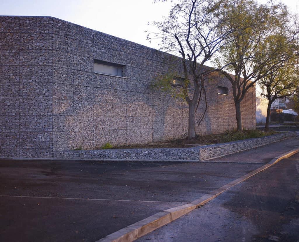 muro, gavion, arquitectura, muro de piedra